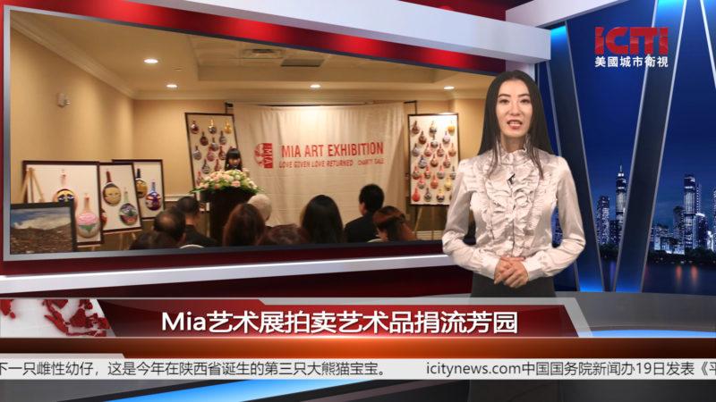 Mia艺术展拍卖艺术品捐流芳园