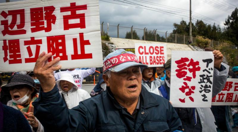 日本政府无视冲绳民意强行填海造地