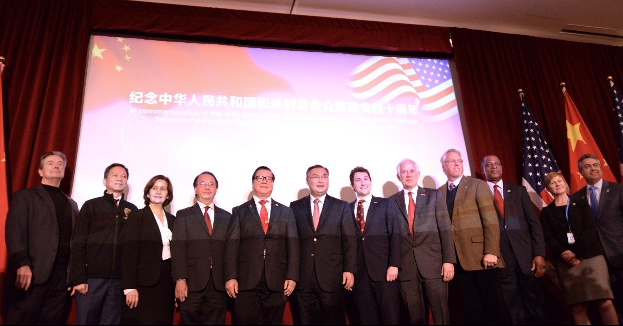 洛杉矶总领馆召开纪念中华人民共和国和美利坚合众国建交四十周年招待会